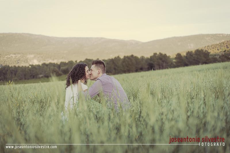 Fotos de preboda en Ibi entre pinos y campos de trigo