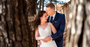 Fotos de boda en Ibi y postboda por el campo