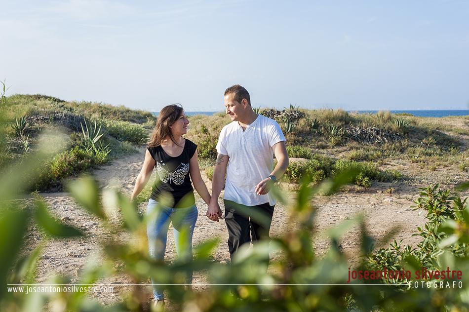 Fotografo de bodas en Alicante - Preboda en la playa